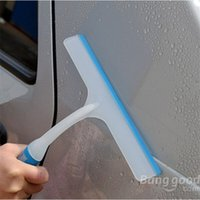 glass wiper - NEW Soft Silicone Car Window Wash Cleaner Cleaning Tool Plastic slip Handle Glass Wiper Windshield Squeegee Drying Blades Shower order lt no