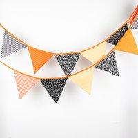 3.2M de 12 drapeaux drapeaux en tissu de coton Personnalité décoration de mariage Bunting Halloween noir orange fête de l'anniversaire Fête de bébé garland décoration