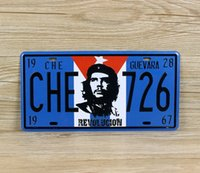 Wholesale 2015 hot CHE Guevara retro license plate Tin Sign Vintage Metal Painting Tin Plate cafe bar pub garage KTV Wall Decoration Home Decor Art