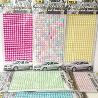 Wholesale 2016 Promotion Glue Sticker Car Accessories Skoda Volkswagen Factory Direct Diy Mobile Beauty Diamond Stickers Car Crystal Drill