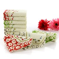 Wholesale Cotton Floral Printed Kitchen Hand Towel Super Absorbent Square Shape Useful Towels Home Supplies CM JQ0013 salebags