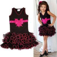 2 015 vêtements pour enfants rassemblements mini robe princesse enfants petite fille tulle Robe à volants danse robe de gâteau de TUTU de dentelle robes de filles Robe