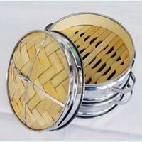 Wholesale New Steamers Inch cm High Grade Stainless Steel And Bamboo Steamer Set With Basket And Lid Kitchen Cookware Steam Grid