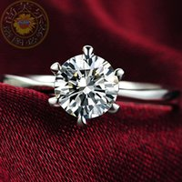 diamond ring - New Hot Classic Engagement Ring Claws AAA Swiss Hearts and Arrows CZ Diamond Ring SKBTQ