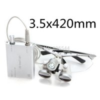 Wholesale Sale Dental equipment Surgical Medical dental Loupes dental glasses X mm LED Head Light Lamp Silver dental lab