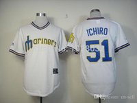Wholesale 30 Teams New Cheap Seattle Mariners Jersey Ichiro Suzuki Jersey White Throwback Baseball Jersey Embroidery Logo
