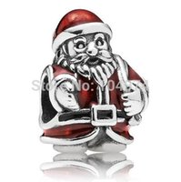 Wholesale Red Clothes Christmas Charm Silver European Pandora Charms Beads Fit Snake Chain Bracelets Jewelry