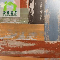 Wholesale Yi family home x900 paint series bar coffee shop restaurant chipped paint effect painting wood blocks YJ