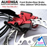 alhonga brakes - ALHONGA HJ OD04 Red MTB Hydraulic Disc Red Brake system Bicycle Oil Press Disc Brake system mm with Rotor and Bolts