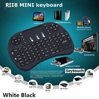 Wholesale 40P Wireless Keyboard Rii Mini i8 Air Mouse Multi Media Remote Control Touchpad Handheld for M8 CS918 MXQ MX2 MX3 MXIII TV BOX AMLS802 S805