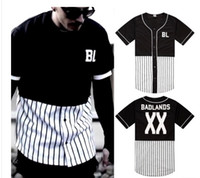 baseball shirt printing - Harajuku Hip hop tyga t shirt patchwork and XX print pyrex design of balck white Men fringe Sports baseball jerseys short sleeve