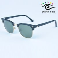 Wholesale 2015 new arrival carfia mm high quality plank frame sunglasses men women sun glasses brand designer with free box freeshipping
