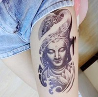 armband tatoo - PC Armband Temporary Tattoo Mysterious Women Buddha waterproof Big size fake tatoo sticker art Arm Armband shank Chest