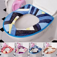 toilet seat covers - Wholesales Toilet Cover Seat Lid Pad O Shape Washable Toilet Cover Pad Bathroom Products Warmer Closestool Cover Mat JI0011 Smileseller