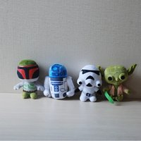 baby boba - Star Wars quot Plush toys Darth Vader Stuffed doll with OPP cotton Super Deformed Boba robot Stormtrooper Stuffed Animals Soft Doll Baby Toys