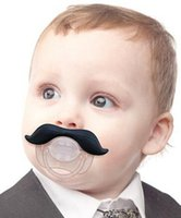 Wholesale Funny Infant Silicone Chill Baby beard Mustache Pacifier teat eco friendly and safe no harm for body baby pacifier