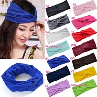 Wholesale New Arrivals Women Girl Turban Head Wrap Headbands Hair Band Accessories Fabric Twisted Knotted Fashion PX62