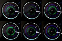 Wholesale New arrives Bicycle Accessories Programmable Colorful Bicycle Bike Cycling Wheel Spoke Light LED pattern H9858