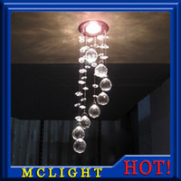 Wholesale Modern Crystal Chandelier Light Fixture Crystal Lamp Crystal lustres Light fitting for Aisle Hallway Porch Staircase