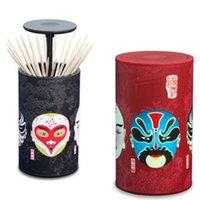 beijing kitchen - creative plastic toothpick box facial makeup Beijing Opera toothpick holders table decoration kitchen tool Z