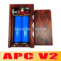 Others apc pricing - By DHL Good Price APC V2 box wood mod Dual wood mod suit for all kinds of rda huge vapor