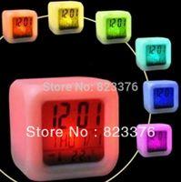 Wholesale DHL Glowing Led Color Change Digital Alarm Clock
