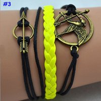 african game animals - 2015 fashion The Newest Metal Hunger Games arrow Birds Infinity Bracelet Leather Multilayer bracelet and bangles