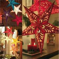 bamboo paper lanterns - 4pcs Star Paper Lantern Lampshade Hanging Wedding Xmas Home Decor cm order lt no tracking