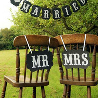 bag booth - DIY Black Brown Mr Mrs Paper Board Ribbon Sign Photo Booth Props Wedding Decoration Party Favor Opp Bag