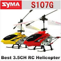 Wholesale Original Identify SYMA s107 S107G mini metal CH RC Helicopter Model Toys with Gyro Gift for Kids Electronic Toy Plane Assorted Color