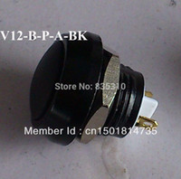 al switch - 12mm push button switch Zn Al alloy with Black actuator pins