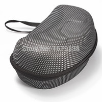 Wholesale Best Price Mesh Hard Protector Bag Case for Winter Sports Ski Motorcycle Snowmobile Goggles Black With Silver Colour