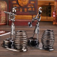 Wholesale pieces New Iron Pen Holder Musical Instruments Model Office Desk Accessories Birthday Gift Christmas Gift styles
