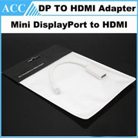 Wholesale Mini DisplayPort Display Port to HDMI Adapter Mini DP to HDMI Cable For Apple MacBook Pro Air Free Post