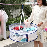Wholesale New Arrivals Double Layer Laundry Clothes Sweater Dryer Rack Hanger Hanging Mesh Basket Cx28