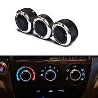 Wholesale Car AC Knob Air Conditioning heat control Switch knob Aluminum Alloy decoration accessories for Honda City CRIDER Jazz Fit