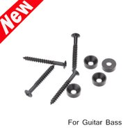 bass guitar neck - For Electric Guitar Bass Blcak Screws Ferrules Neck Joint Guitar Parts Accessories New Arrival I474