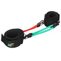 ankle pull - Set of Leg Thigh Latex Resistance Band Gym Fitness Exercise Tube Ankle Straps