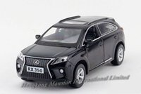 diecast toy - 1 Alloy Diecast Metal Car Model For LEXUS RX350 Collection Pull Back Toys Car With Sound Light Black Red White