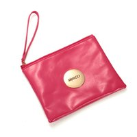 Wholesale 2016 Lovely supernatural MIMCO medium pouch sleek Women travel purse Clutch wallet MIMCO badge charm Soft PU leather ladies bag