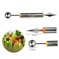 Wholesale Multifunctional fruit vegetable tools carving cutter melon scoops ballers stainless steel kitchen gadget accessories JIA221