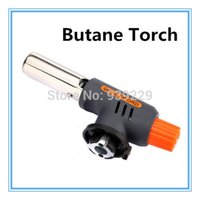 Wholesale SALE Portable Gas Butane Torch Camping Picnic Burner Hiking BBQ Lighter Welding Soldering Flame Jet Gun Heating Tool