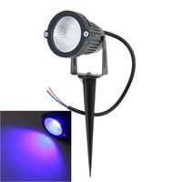 Wholesale 5 Colors V AC DC W LED Garden Lawn Lamp LED Flood Spotlight Wall Yard Path Pond With Rod LED Garden Lights Outdoor Waterproof