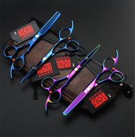 Wholesale 5 Inch Hairdressing Kasho Scissors Japan Stainless Steel Professional Hair Cutting Thinning Scissors Colors High Quality