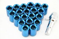 auto lug nuts - x1 mm Car Auto Racing Wheel Lug Nuts Nut Kit Sets Alloy Screw Blue M46983