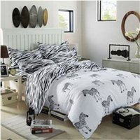Wholesale new horse design bedding duvet cover for boys queen size single bed princess white european bedsheet set