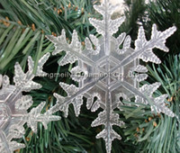 Wholesale Christmas tree decoration cm clear snowflake party and tree ornament supplies home decoration holiday ornaments