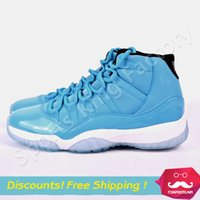 north carolina - Top Quality Retro North Carolina blue basketball shoes Men sports shoes Athletic Shoes Retro XI cheap Sneakers US