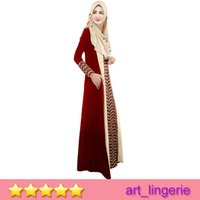 arab match - New Arrival Arabia long gown Woem Muslim Linen Long Dress Arab women robe Multi Color Matching High Quality Item No