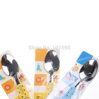 baby diets - High quality Stainless Steel Baby Diet Spoon Students Scoop Tablespoon very Cute Style Safe Good Appetite